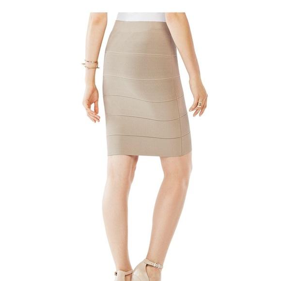 58515944eb BCBGMaxAzria Skirts | Bcbg Beige Alexa Bandage Skirt | Poshmark